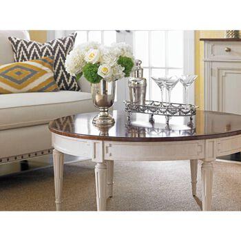 Stanley Fairfax Cotton Round Cocktail Table