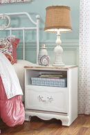Ashley Korabella White One-Drawer Nightstand