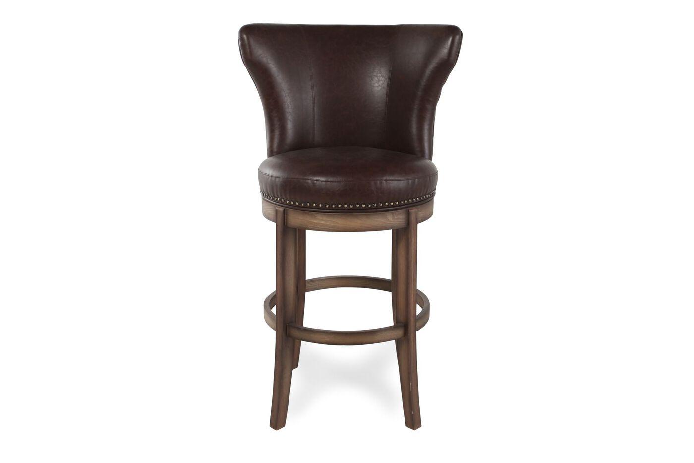 Boulevard Brown Swivel Bar Stool Mathis Brothers Furniture