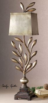 Uttermost Angelita Metal Leaf Buffet Lamp