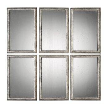 Uttermost Alcona Antiqued Silver Mirrors S/3