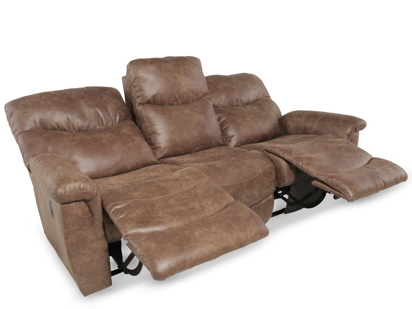 La Z Boy Leather Reclining Sofa Mathis Brothers