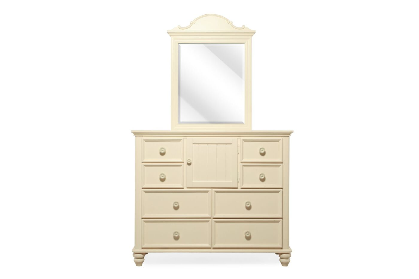Legacy summer breeze cottage white bureau dresser and for Furniture and mirror