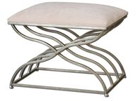 Uttermost Shea Satin Nickel Small Bench