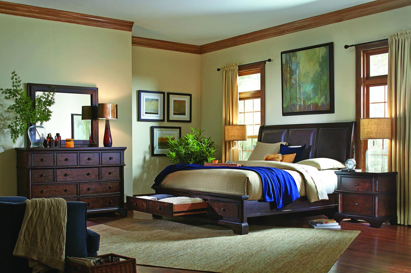 aspen bancroft bed mathis brothers furniture. Black Bedroom Furniture Sets. Home Design Ideas