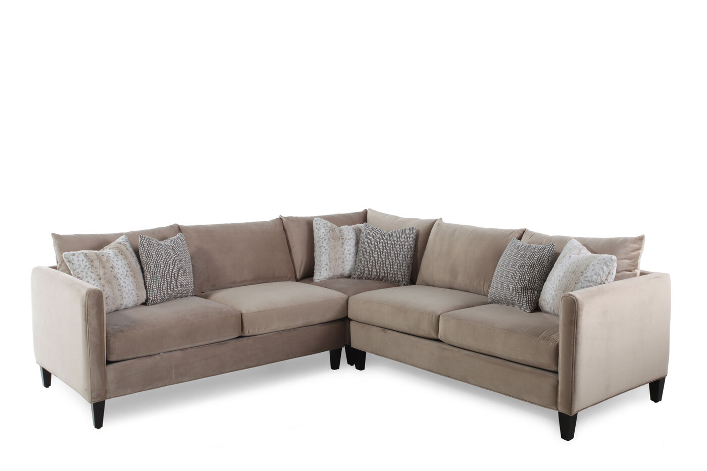 Jonathan Louis Kate Three Piece Sectional Mathis Brothers Furniture