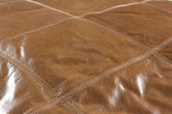 Jonathan Louis Riley Leather Ottoman