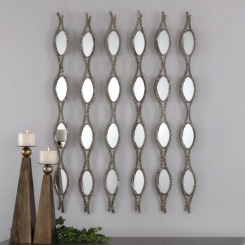 Uttermost Tiberio Mirrored Wall Art S/6