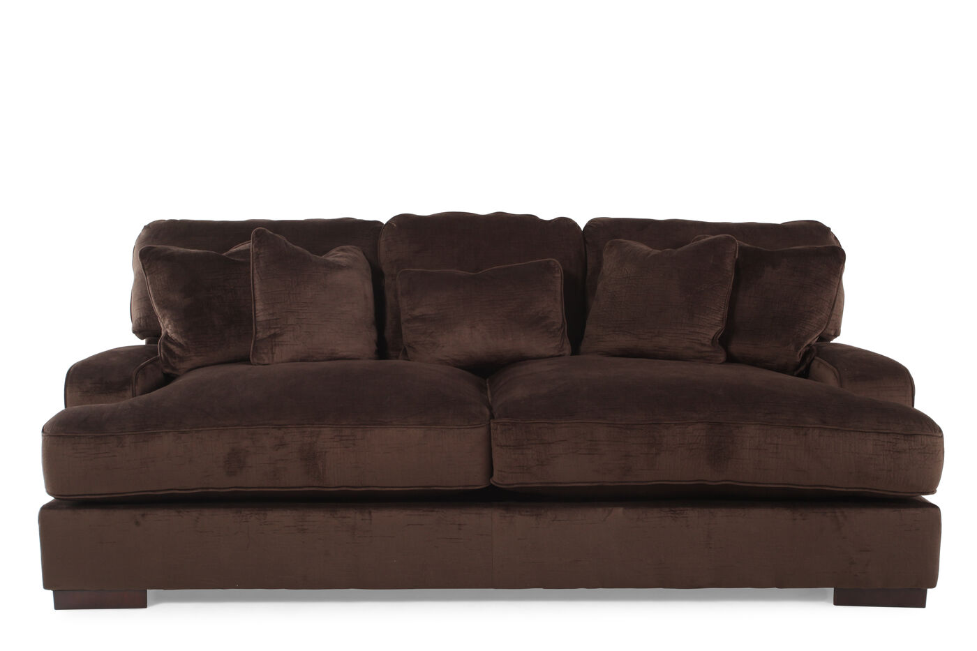ashley bisenta chocolate sofa mathis brothers furniture. Black Bedroom Furniture Sets. Home Design Ideas