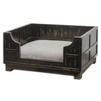 Uttermost Dezi Wooden Crate Pet Bed
