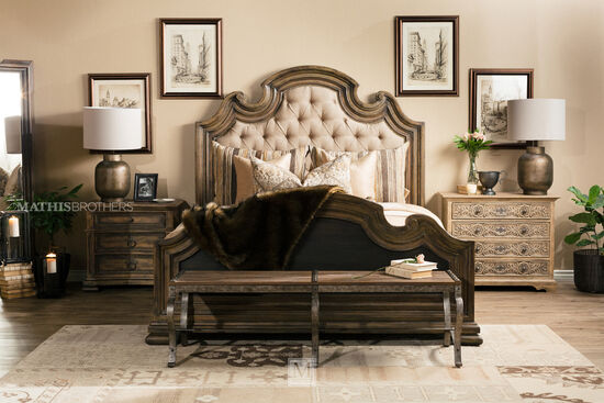 Hooker Hill Country Fair Oaks Brown Upholstered Bed Mathis Brothers Furniture