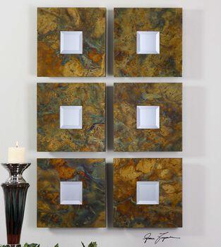 Uttermost Ambrosia Squares Mirror Set 2