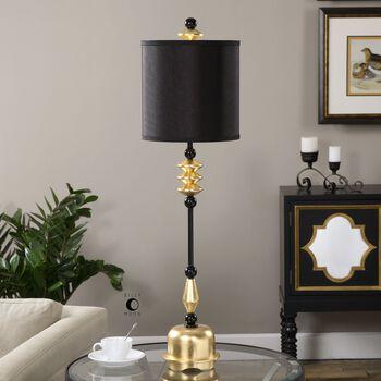 Uttermost Volga Antiqued Gold Buffet Lamp