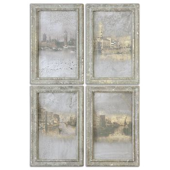 Uttermost Antique Venetian Views, S/4