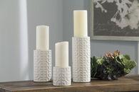 Ashley Kael Cream Candle Holder (Set of 3)