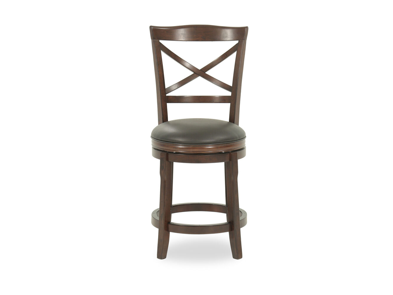 Ashley Porter 24 Quot Brown Faux Leather Swivel Bar Stool