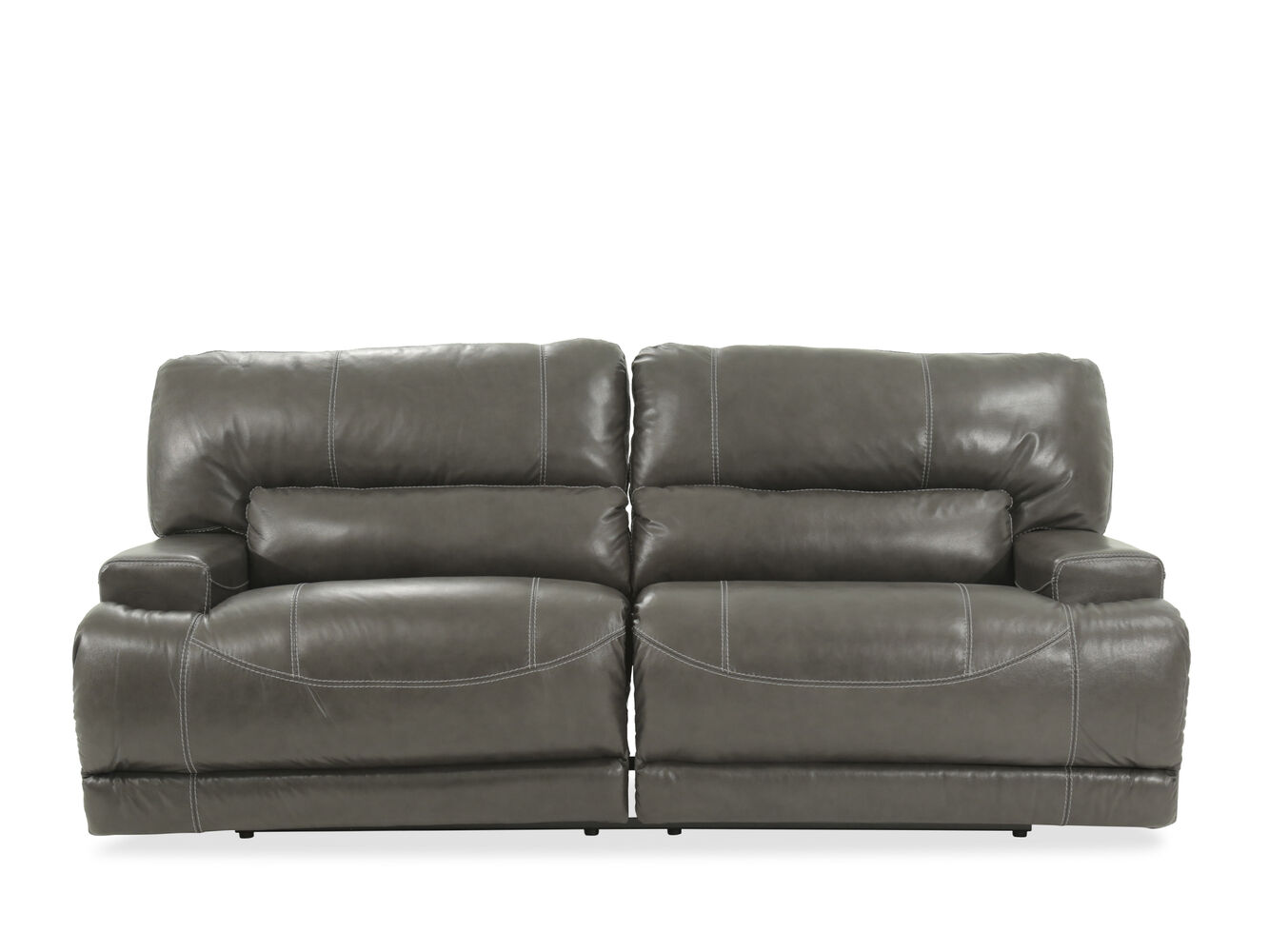 Ashley Mccaskill Gray Power Reclining Sofa Mathis Brothers Furniture