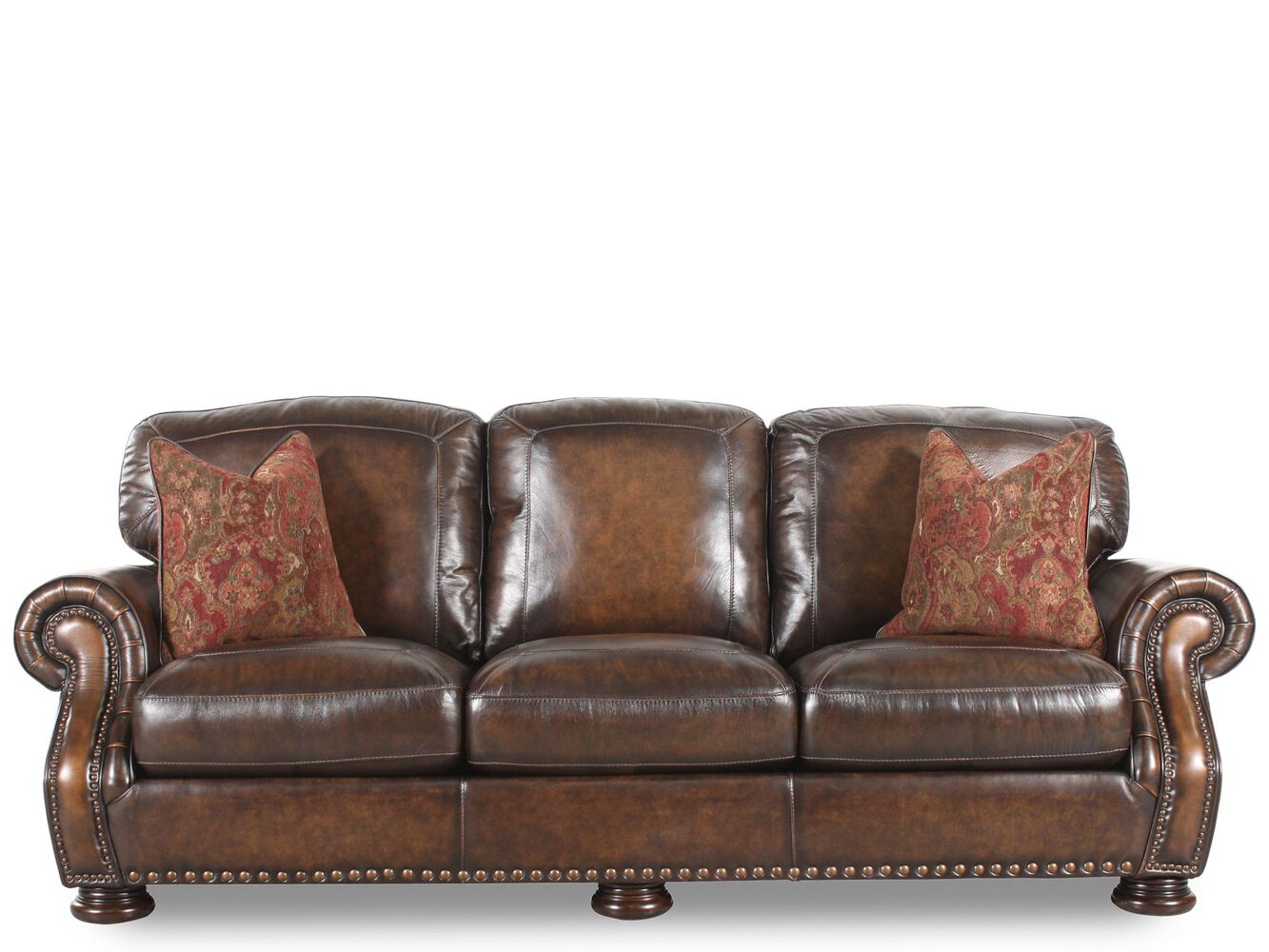 Simon li leather picasso randwick sofa mathis brothers furniture for Mathis brothers living room furniture