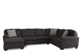 Ashley sorenton slate three piece sectional mathis for Sofa bed 91762
