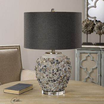 Uttermost Carrabelle Layered Stones Lamp