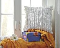 Ashley Ruffin White Pillow