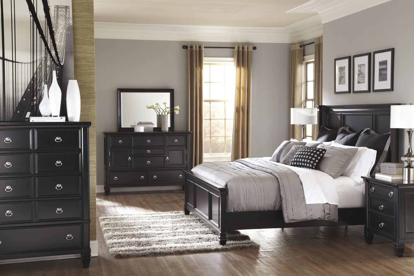 Ashley millennium greensburg suite mathis brothers furniture for Ashley furniture bedroom suites