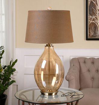 Uttermost Bartolomeo Amber Glass Table Lamp
