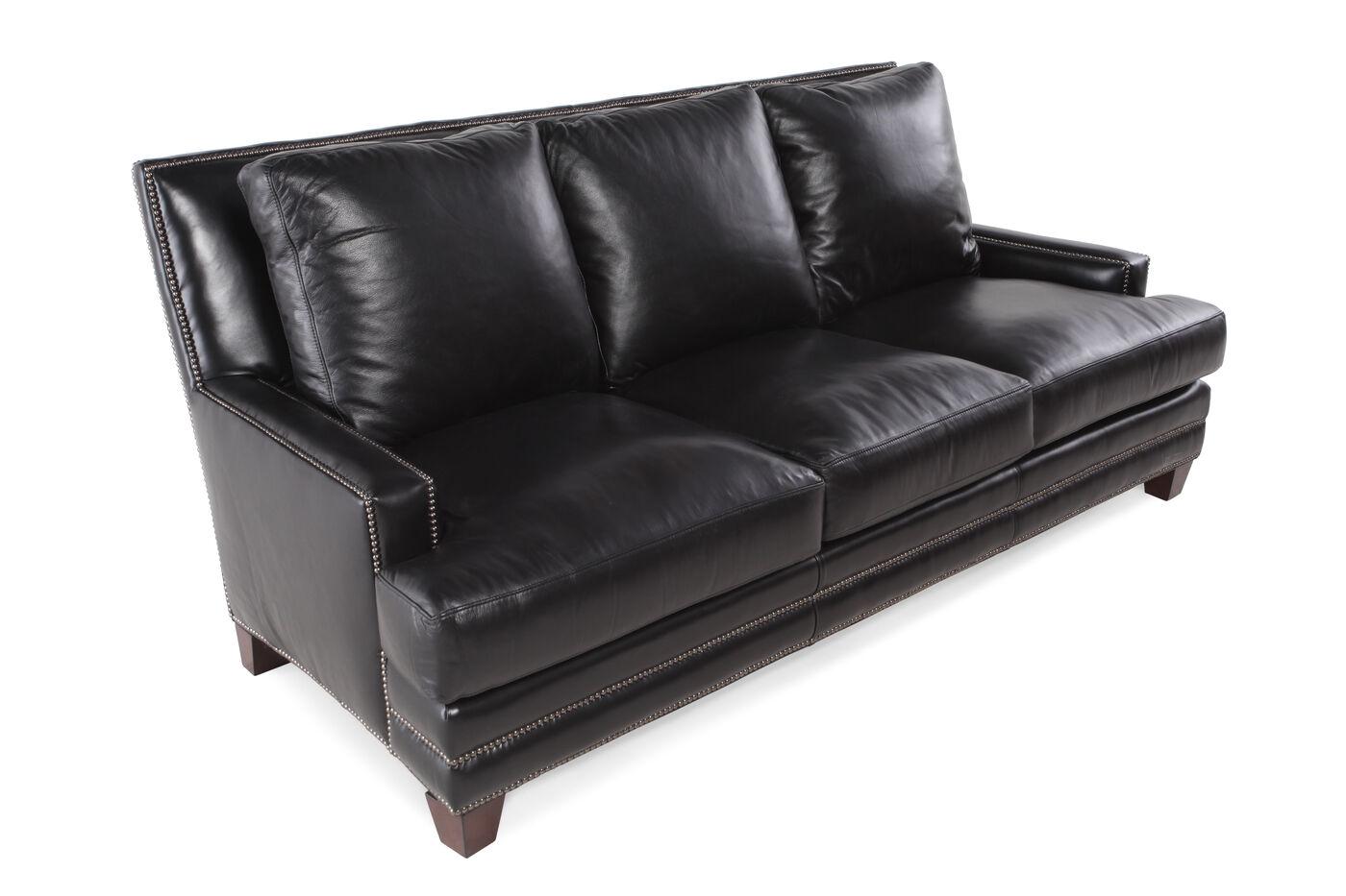 Henredon Leather Sofa Mathis Brothers