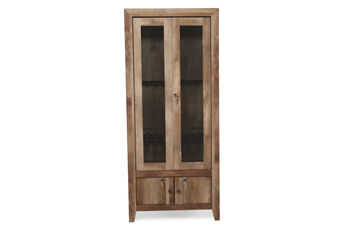 Sauder Craftsman Oak Gun Display Cabinet