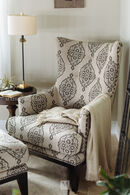 Simon Li Heirlooms Longhorn Ghost Accent Chair and Ottoman