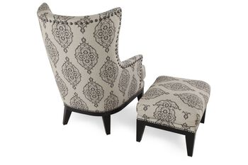 Heirlooms Longhorn Accent Chair and Ottoman