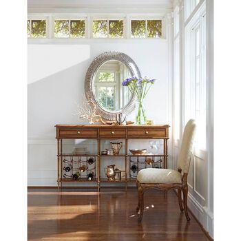 Stanley Arrondissement Rustic Charcoal Jardin Mirror