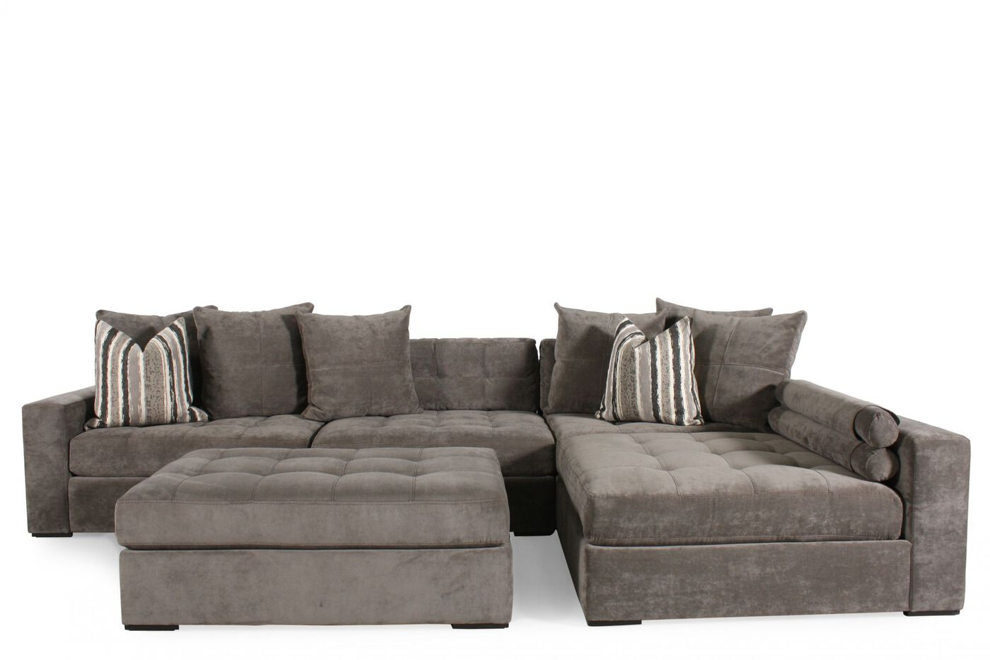 Jonathan Louis Noah Gray Sectional : Mathis Brothers Furniture