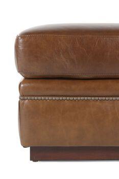 Henredon Leather Ottoman