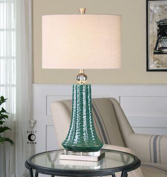 Uttermost Gosaldo Textured Teal Table Lamp