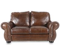 USA Leather Oak Paisley Loveseat