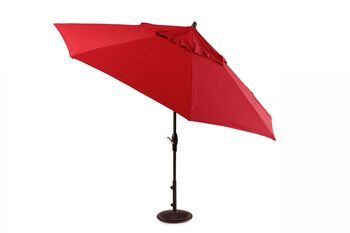 Treasure Garden Red 11' Auto Tilt Umbrella