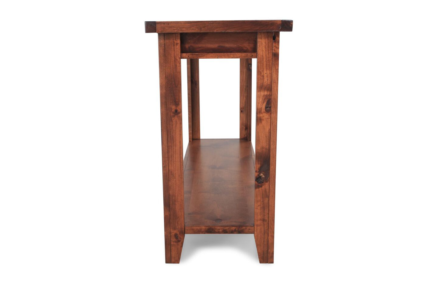 Aspen alder creek sofa table mathis brothers furniture for Sofa table vs console table