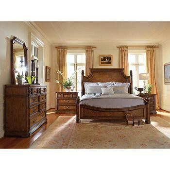 Stanley Arrondissement Heirloom Cherry Panel Bed