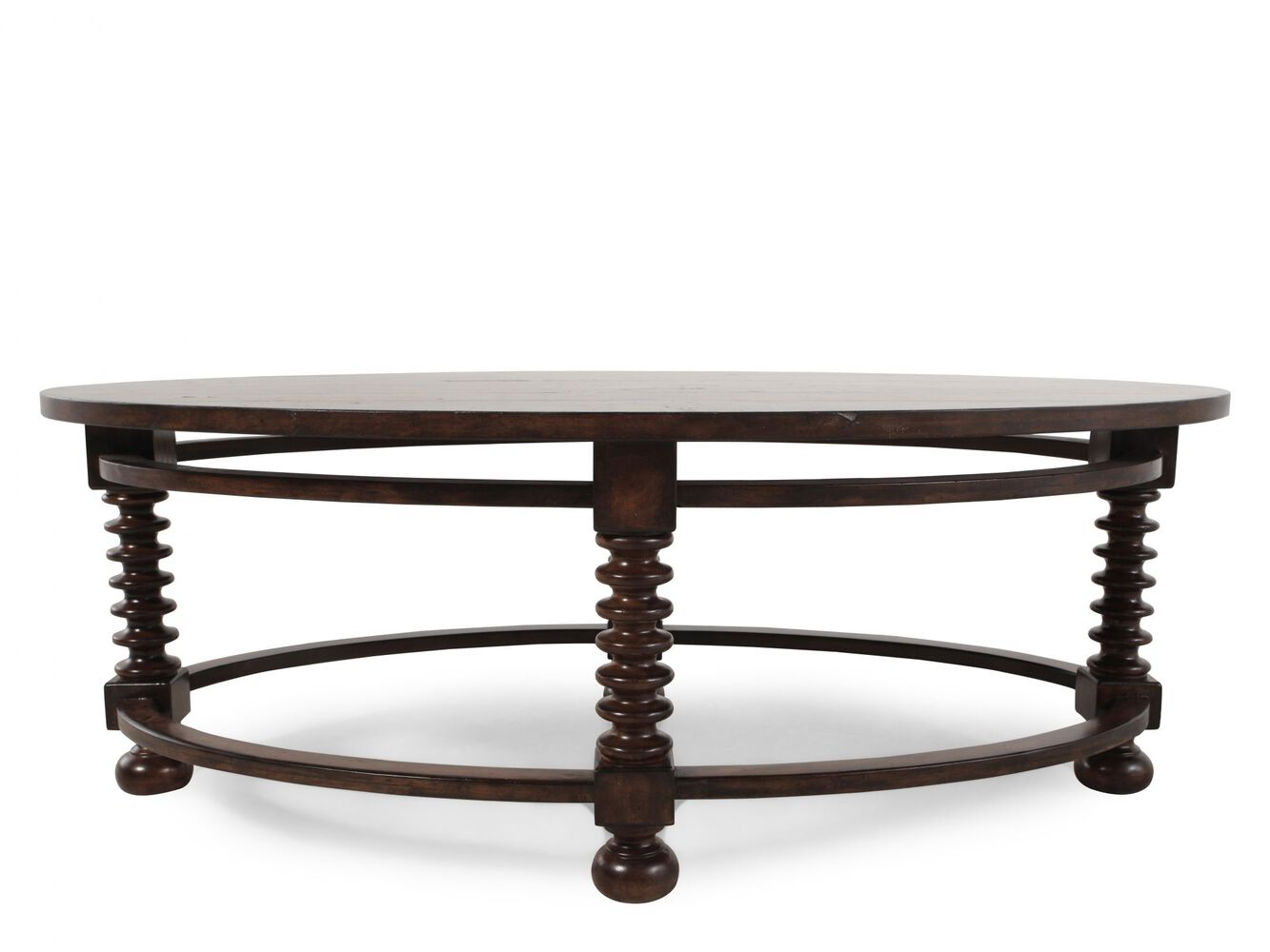 Bernhardt Interiors Vestige Oval Cocktail Table Mathis Brothers Furniture