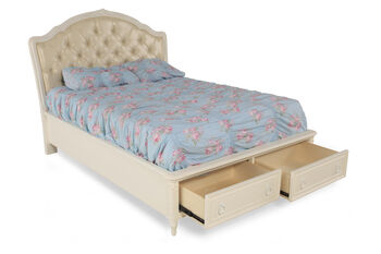 Samuel Lawrence Sweetheart Upholstered Bed with Storage