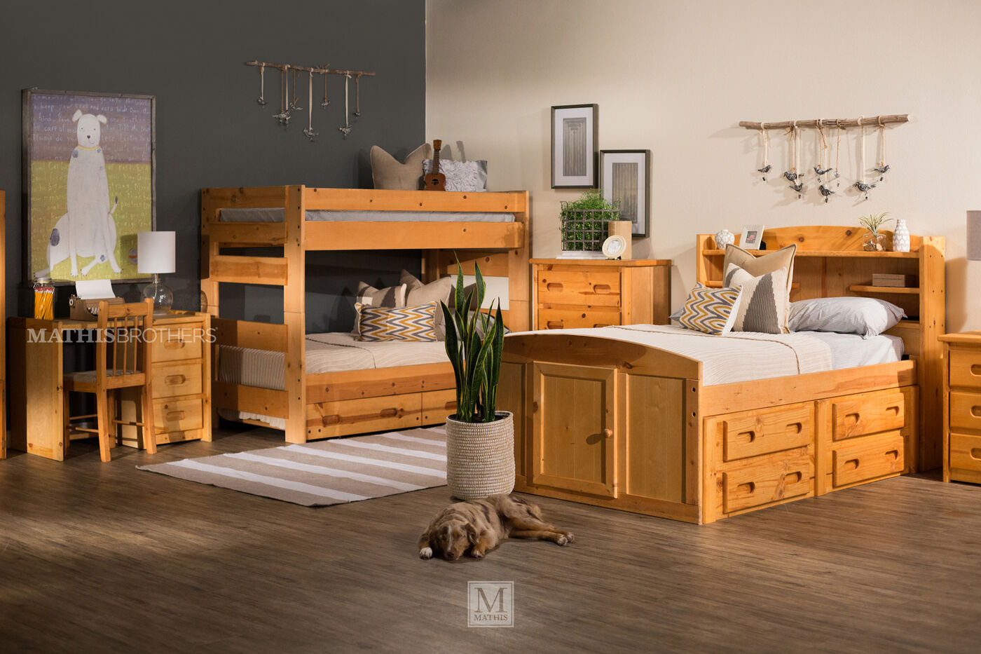 Trendwood Twin Bunk Bed Mathis Brothers Furniture
