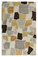 LBJ Hand Tufted Wool/Viscose Ivory/ivory 5' X 8' Rug
