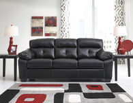 Ashley Bastrop Black Sofa