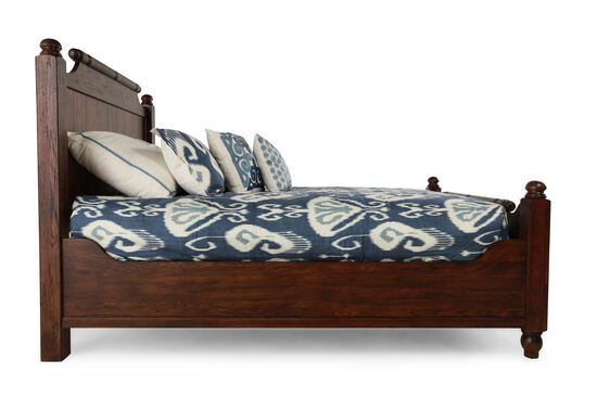 Broyhill Attic Rustic Oak Bed Mathis Brothers Furniture