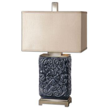 Uttermost Pratola Charcoal Blue Lamp