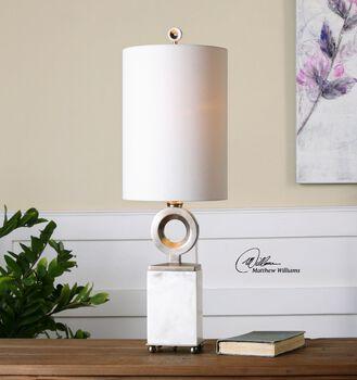 Uttermost Palos White Alabaster Buffet Lamp