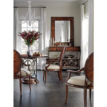Stanley Avalon Heights Chelsea Neo Deco Pedestal Table