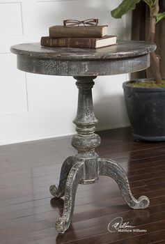 Uttermost Cadey Reclaimed Wood Side Table