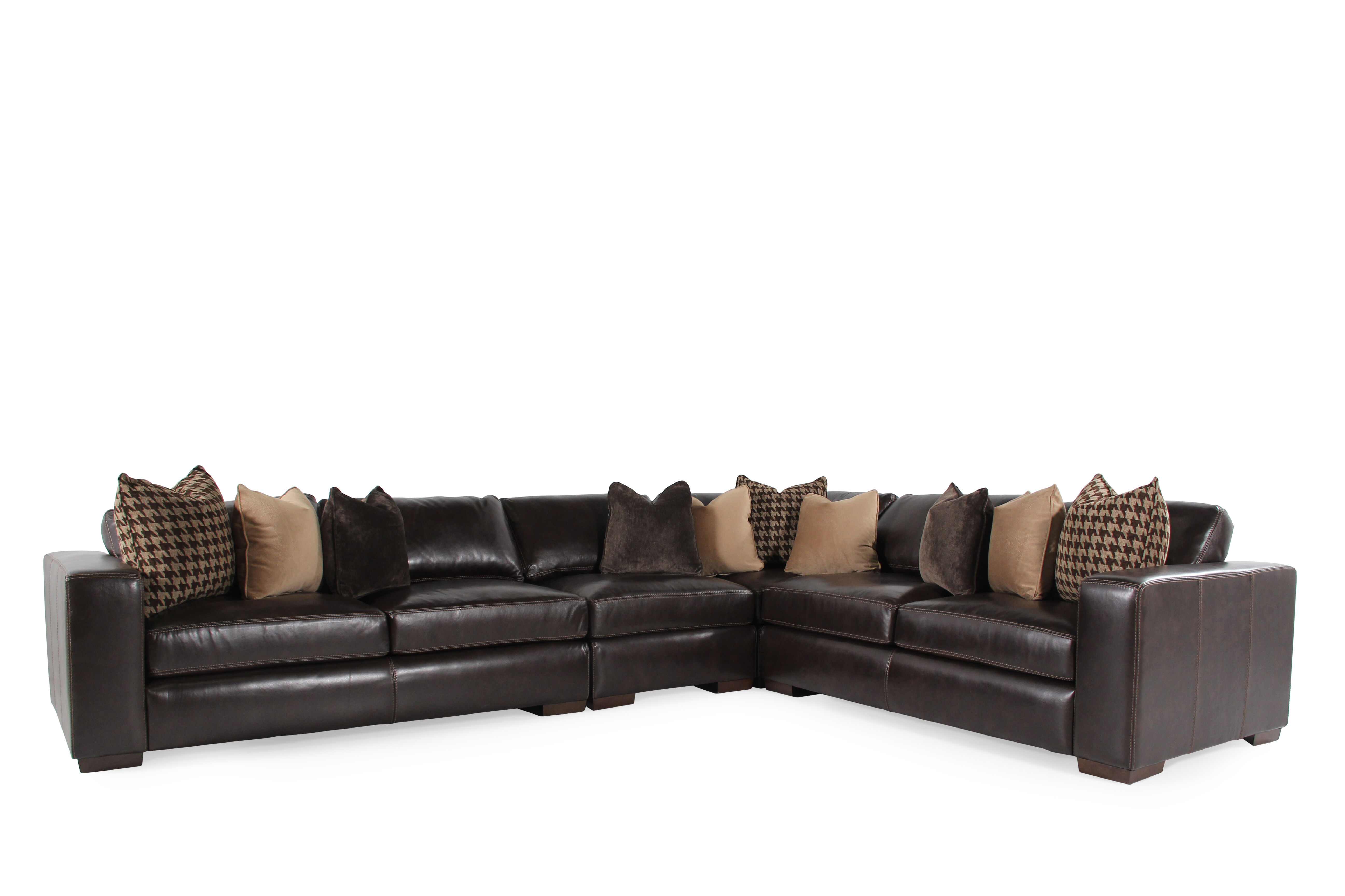 Bernhardt Dorian Leather SectionalMathis Brothers Furniture